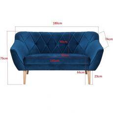 Sofa 3-osobowa styl skandynawski Kanapa Skand | Meble Kukulka
