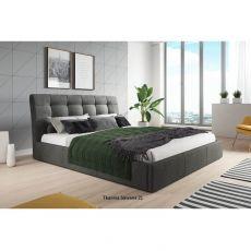 Łóżko tapicerowane BALDO + pojemnik + materac | Meble Kukulka