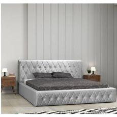 Łóżko tapiceorwane Skand z pojemnikiem i stelażem...