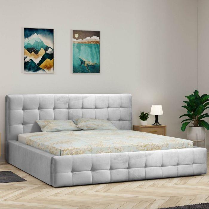 Łóżko tapicerowane DIXI z pojemnikiem i stelażem 140x200 160x200 180x200 | Meble Kukulka