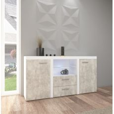 Meblościanka SALSA MAX XL + szafa 2D biała
