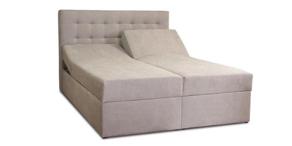 Łóżko z regulowanym stelażem