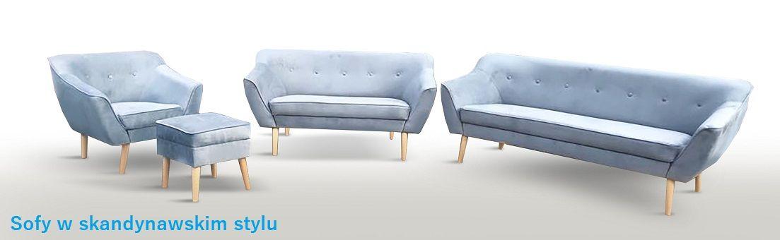 Kanapy i fotele w stylu skandynawskim